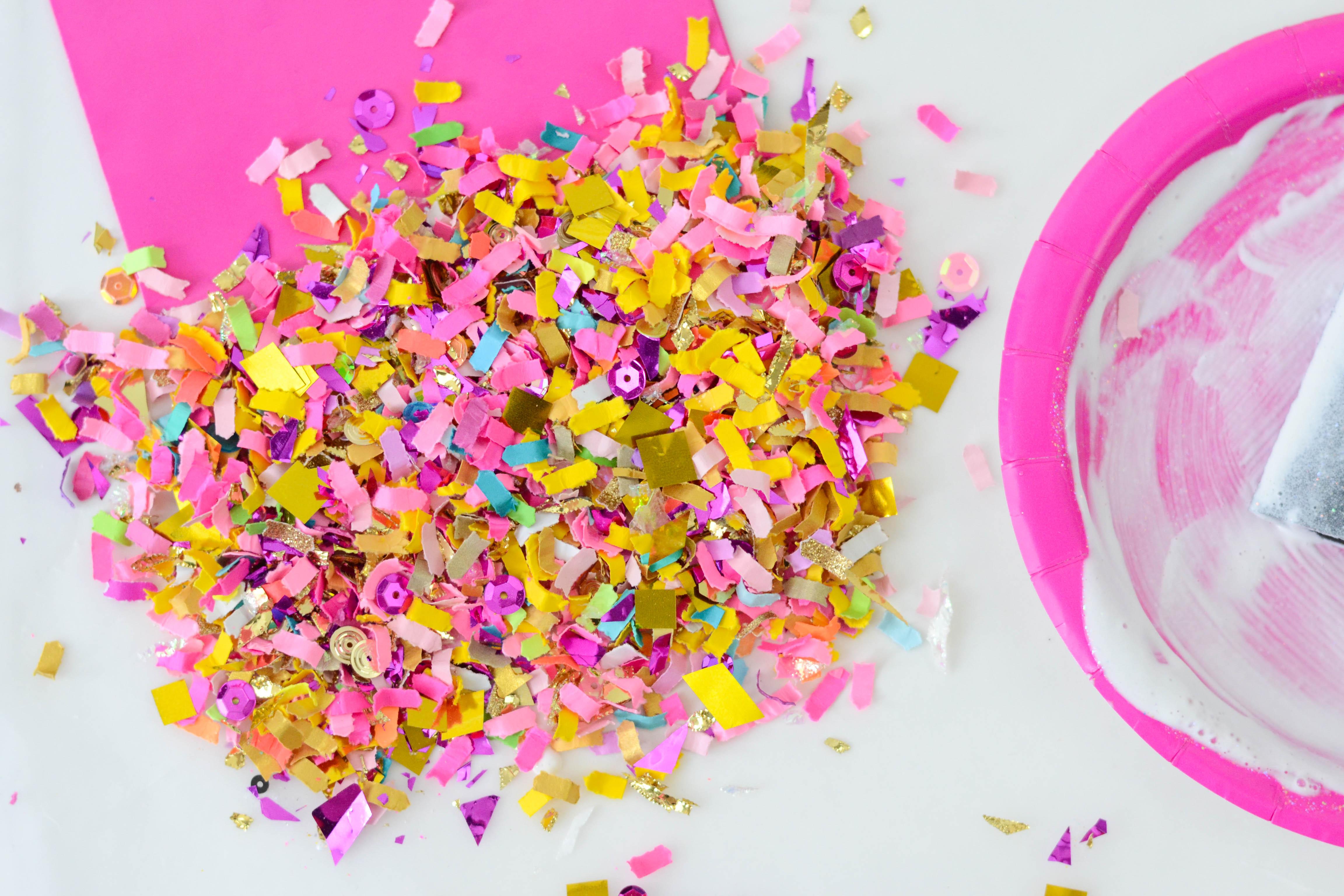 DIY Confetti Dipped Goodie Bags