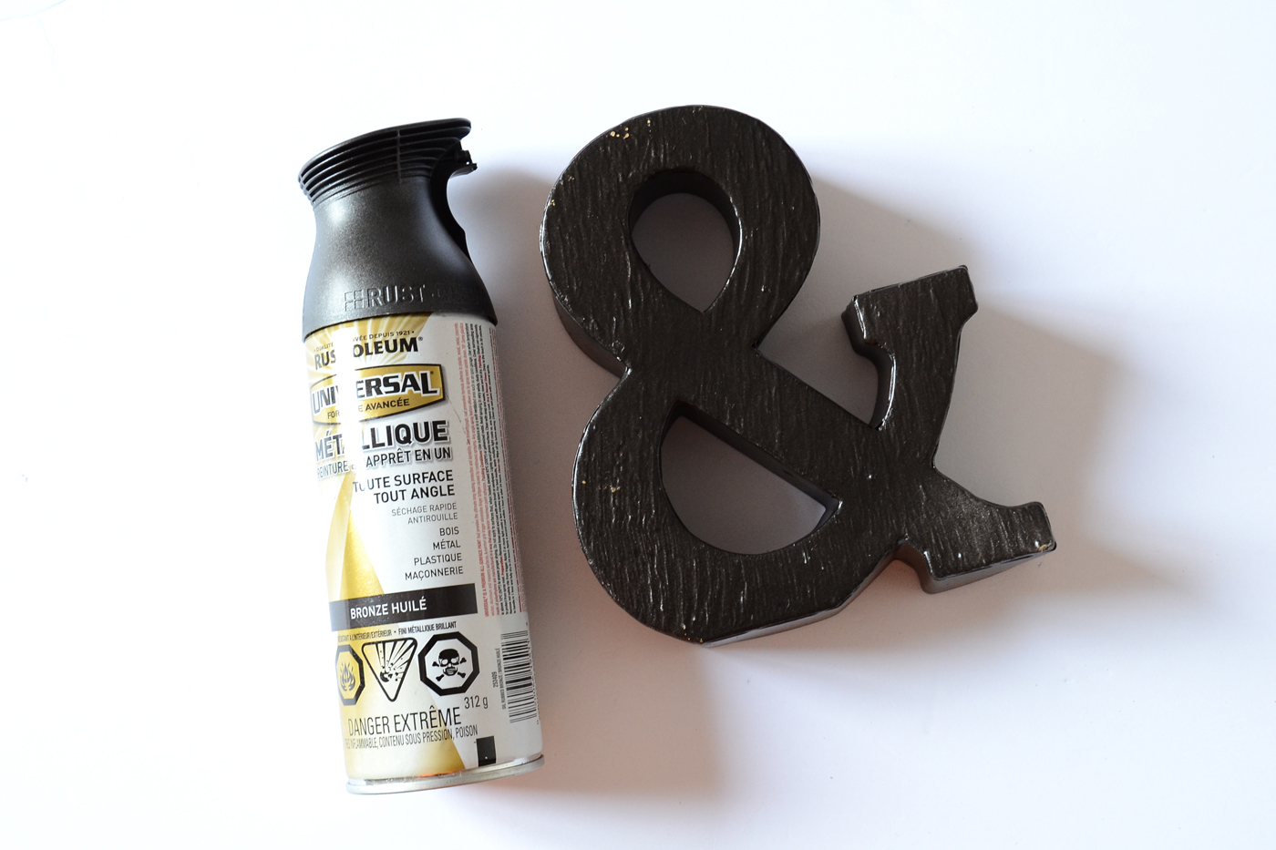 step 2 spray paint your letter i used oil rubbed bronze as i. Black Bedroom Furniture Sets. Home Design Ideas