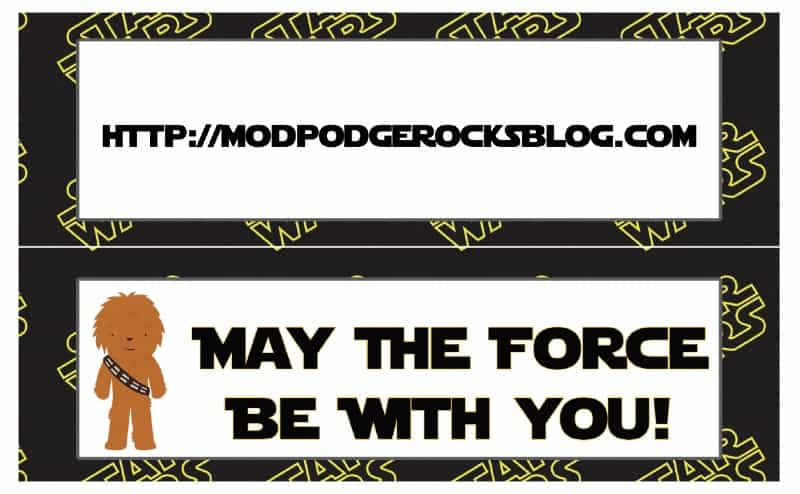 picture regarding Free Printable Star Wars Party Invitations named Star Wars Birthday Celebration Totally free Printable Pack! - Mod Podge Rocks