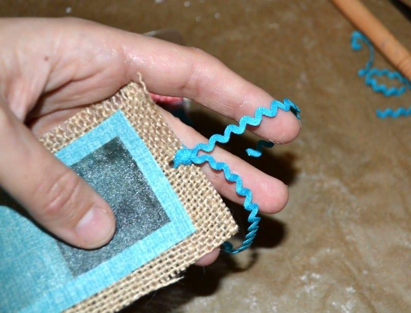 DIY Burlap Bookmark 10