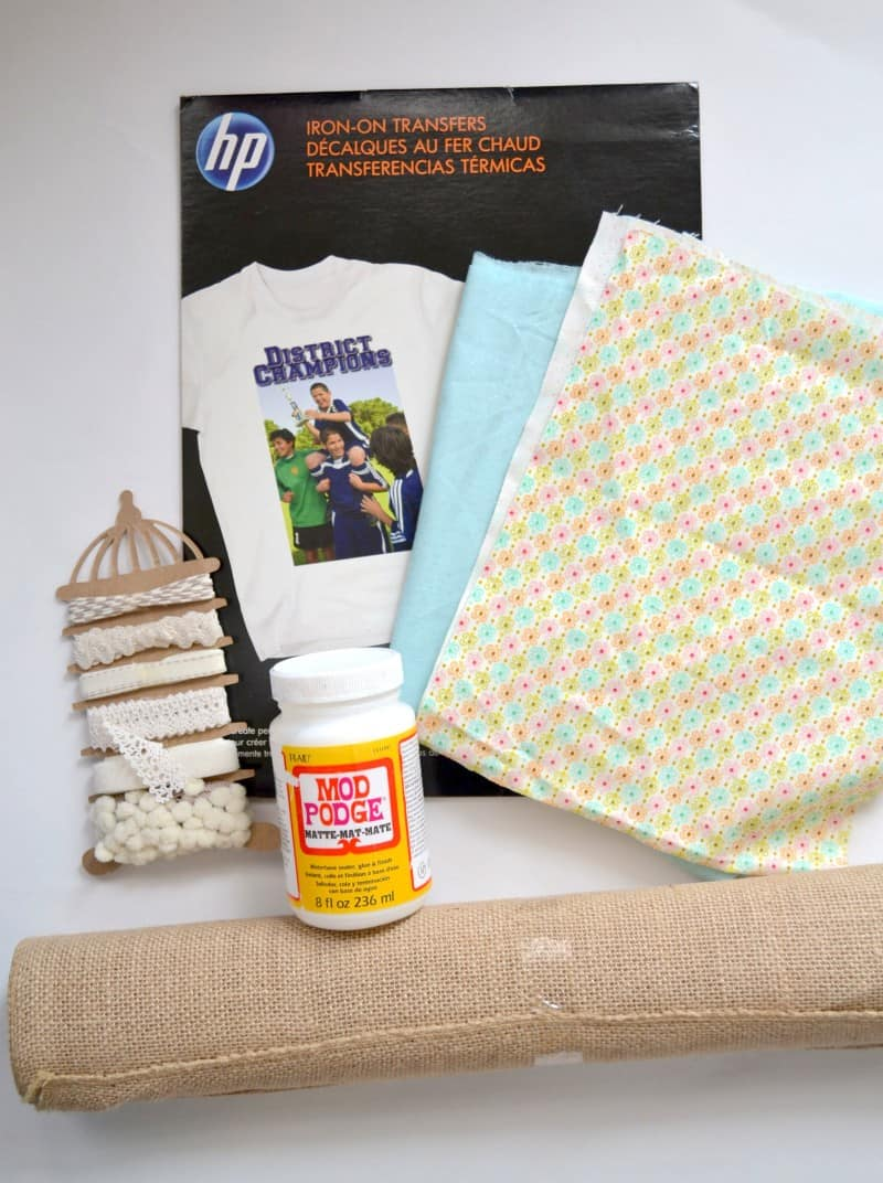 DIY Burlap Bookmark Supplies