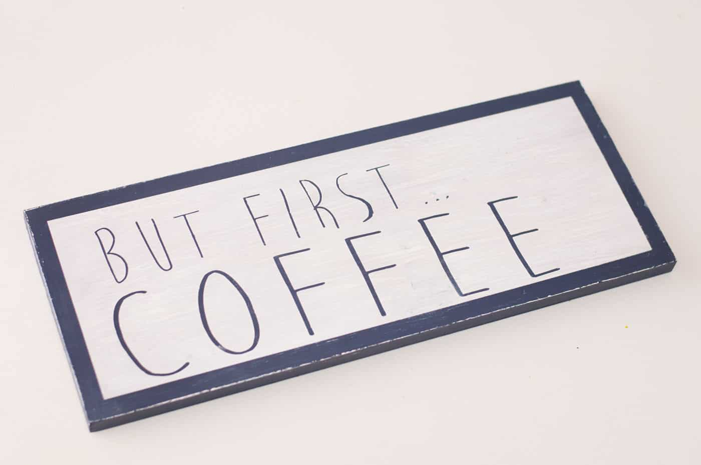 But first coffee scrap wood sign