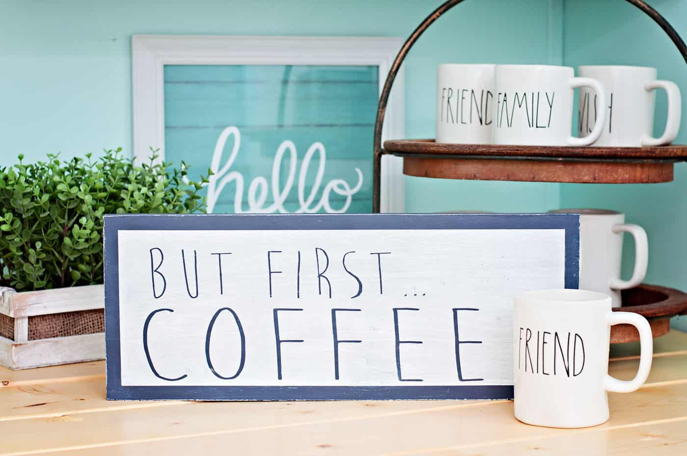 Scrap wood projects DIY coffee bar sign
