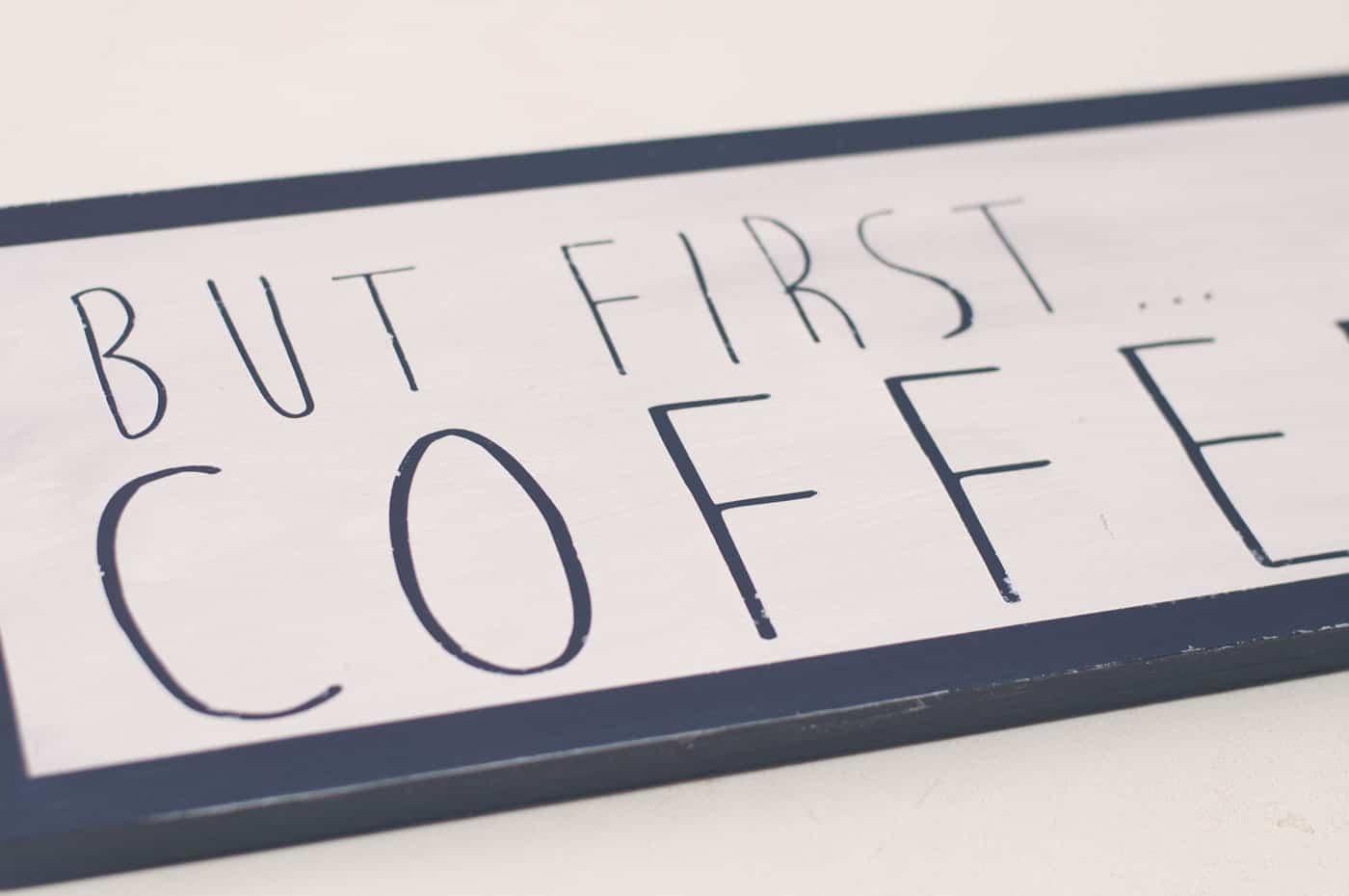 DIY Coffee Bar Sign