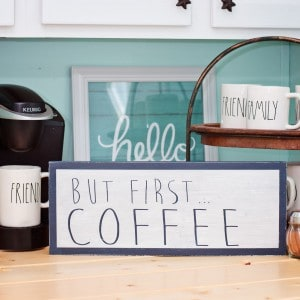 Scrap wood projects: DIY coffee bar sign...