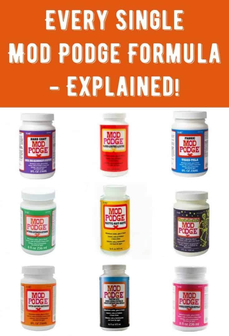Are you curious about the Mod Podge formulas? Do you want to learn what each one does, how to use them, and get sample crafts? You'll want to bookmark this amazing post!