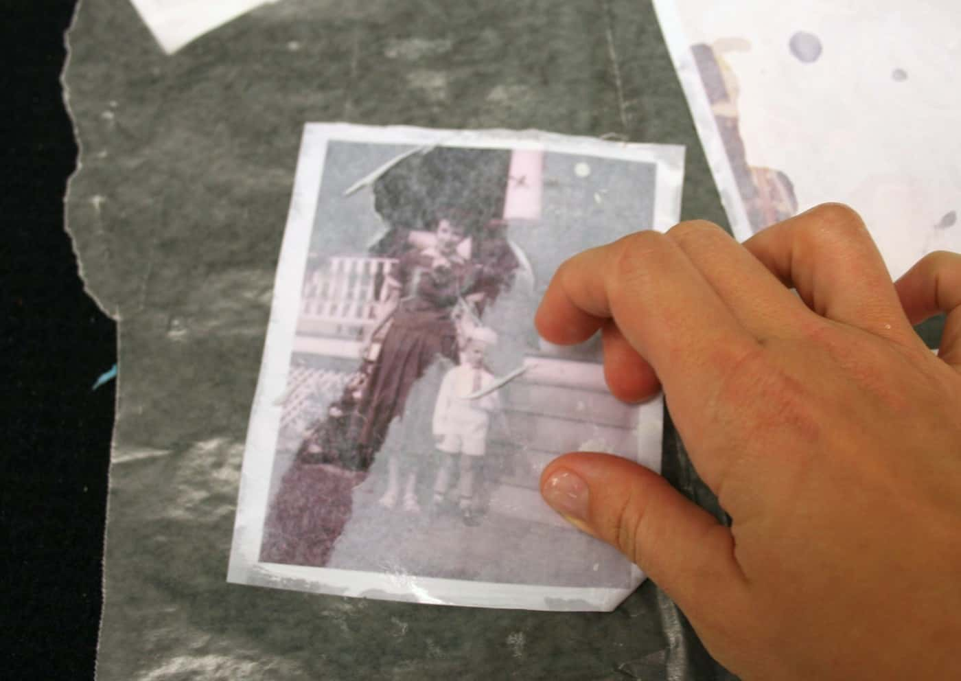 Photo Transfer on Glass 4