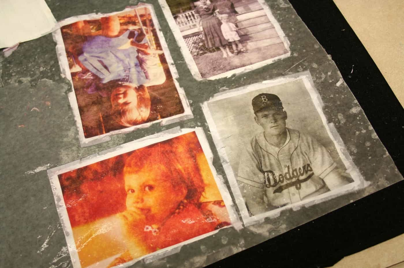 Images created using the Mod Podge photo transfer decal method