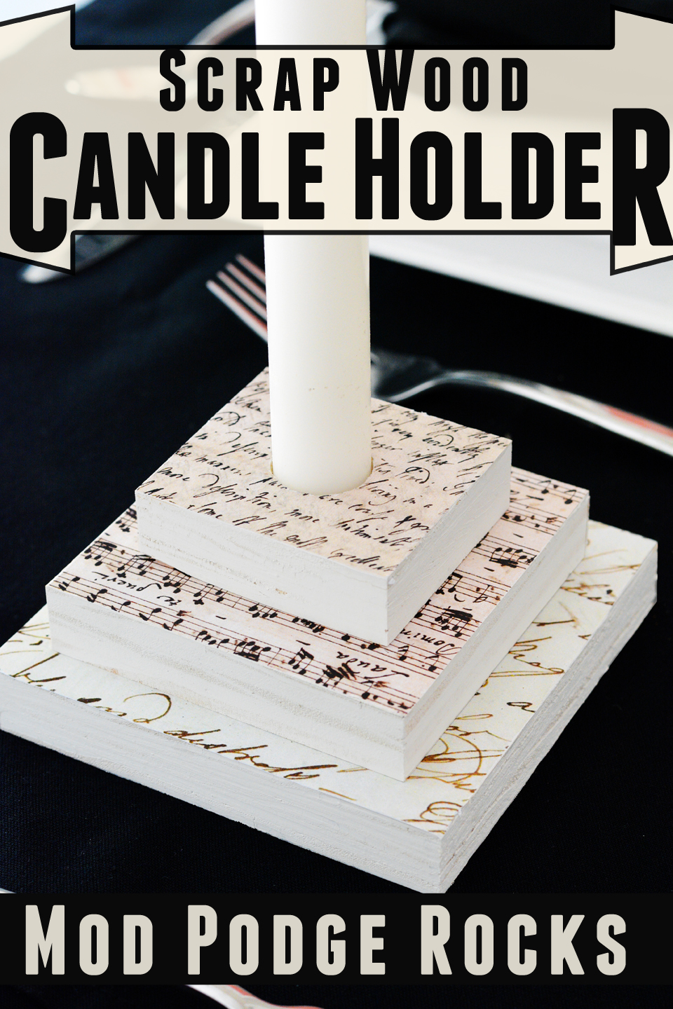 What to do with pieces of scrap wood? Turn them into home decor! These scrap wood candle holders are easy to make and have a lot of possibilities.