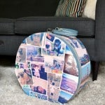 DIY suitcase decor