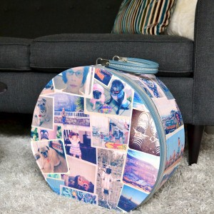 Vintage photo DIY suitcase
