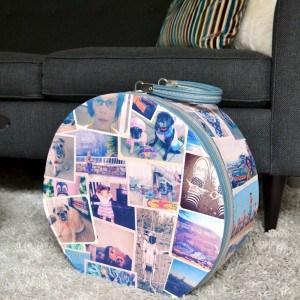 DIY suitcase decor