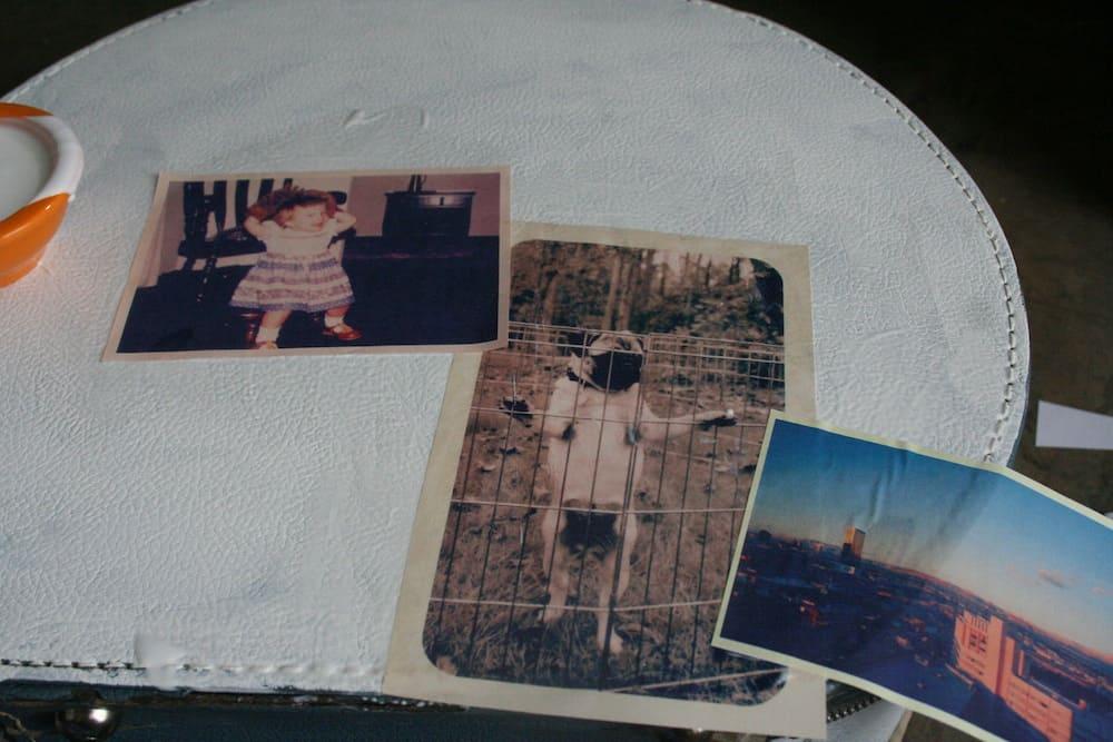 Vintage Photo Suitcase Mod Podge Photos