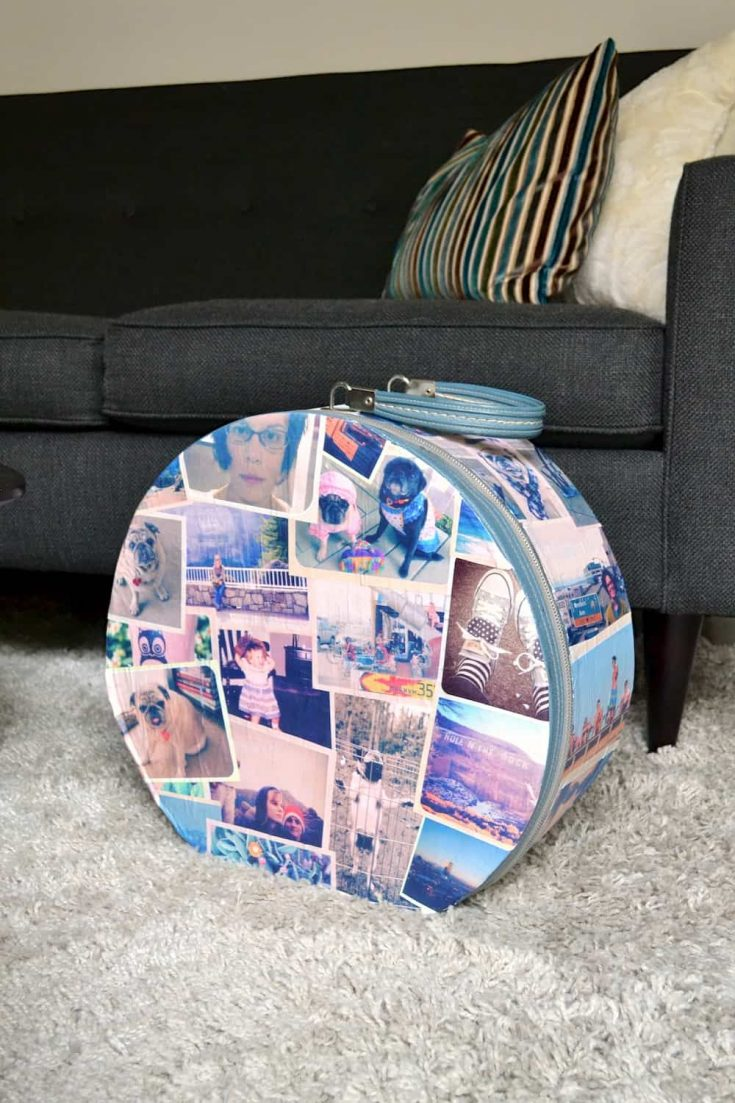 Vintage Photo DIY Suitcase Decor
