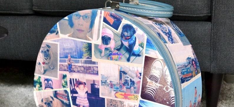 Vintage photo DIY suitcase