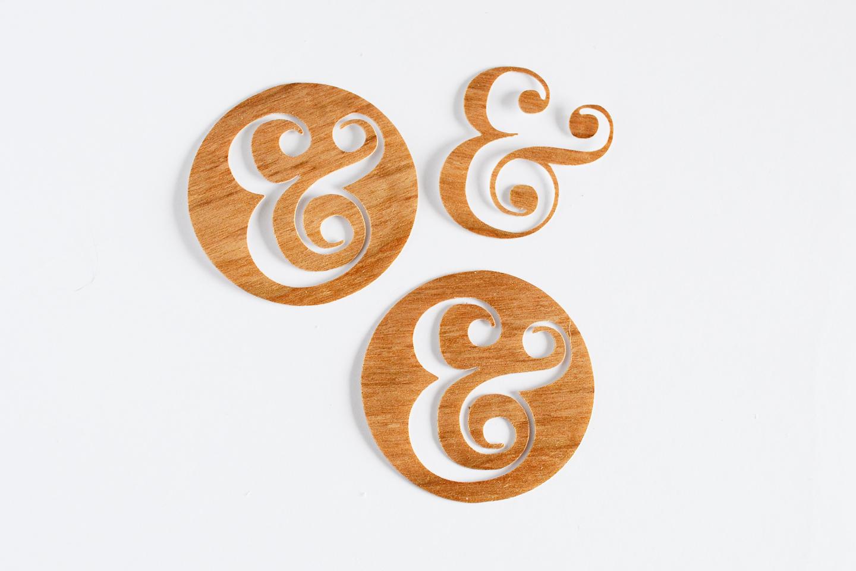 cut wood veneer circle
