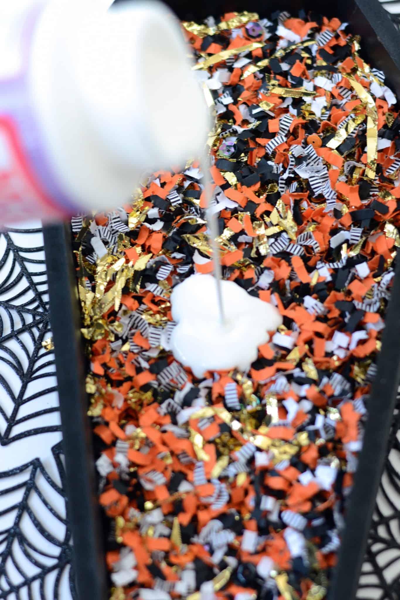 DIY Confetti Coffin Tray