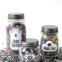 Halloween Jars with Confetti!