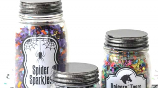 Glow in the Dark Halloween Jars with Confetti!