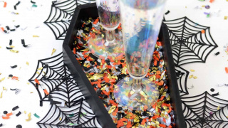 DIY Confetti Coffin Tray for Halloween