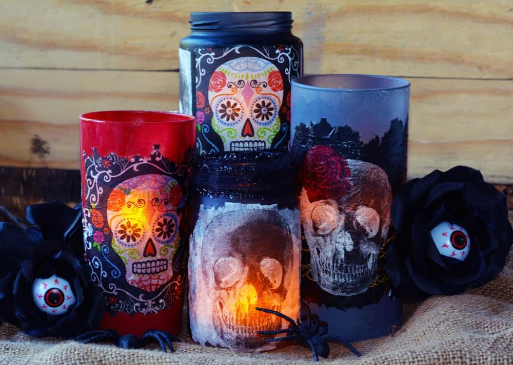 Day Of The Dead Crafts Decorative Luminaries Mod Podge