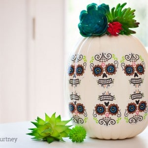 Day of the Dead pumpkin craft