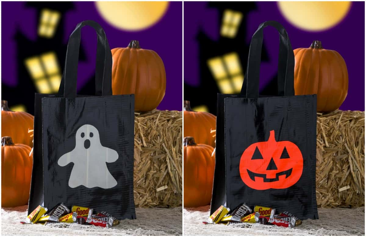 Duck Tape DIY Trick or Treat Bag Two Ways!