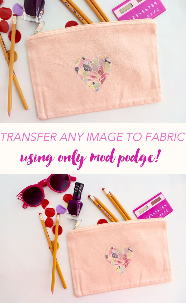 Decorate a bag with your favorite scrapbook paper AND make it washable using this image transfer technique! It's easy with Mod Podge Photo Transfer Medium.