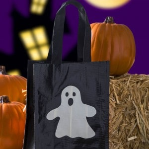 Duck Tape DIY trick or treat bag two way...