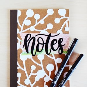 Overlay DIY notebook designs