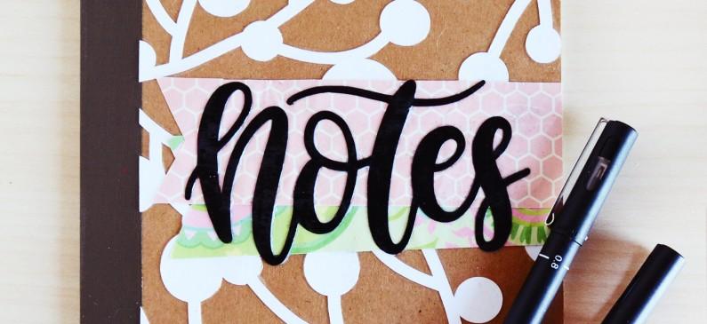 Overlay DIY notebook designs