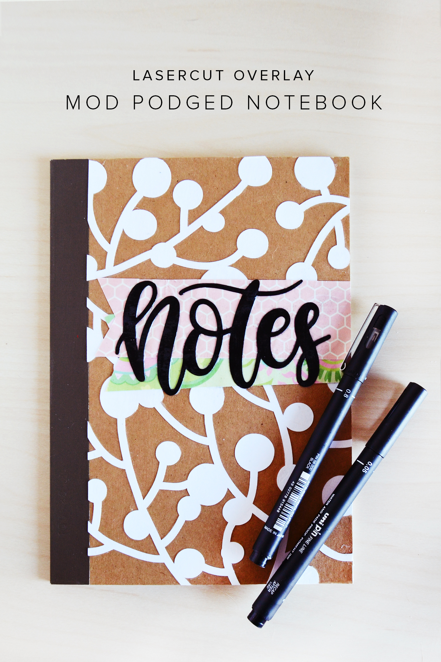 Creative Design To Cover Notebook : Overlay diy notebook designs mod podge rocks