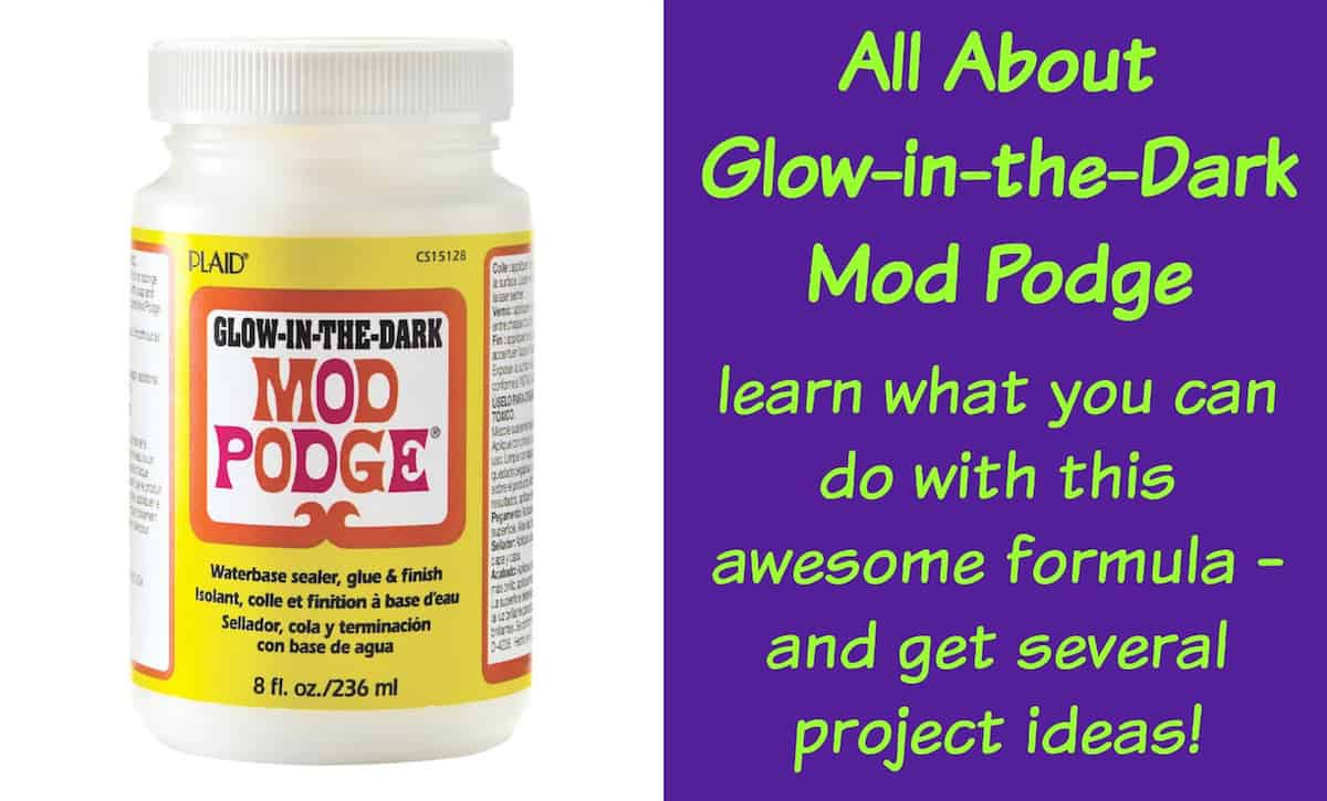 Learn all about the glow in the dark Mod Podge formula! Find out what it is, how to use it, and see some unique projects you can make.