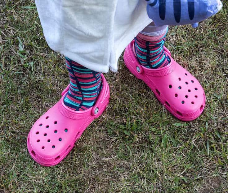 Halloween costume with Crocs