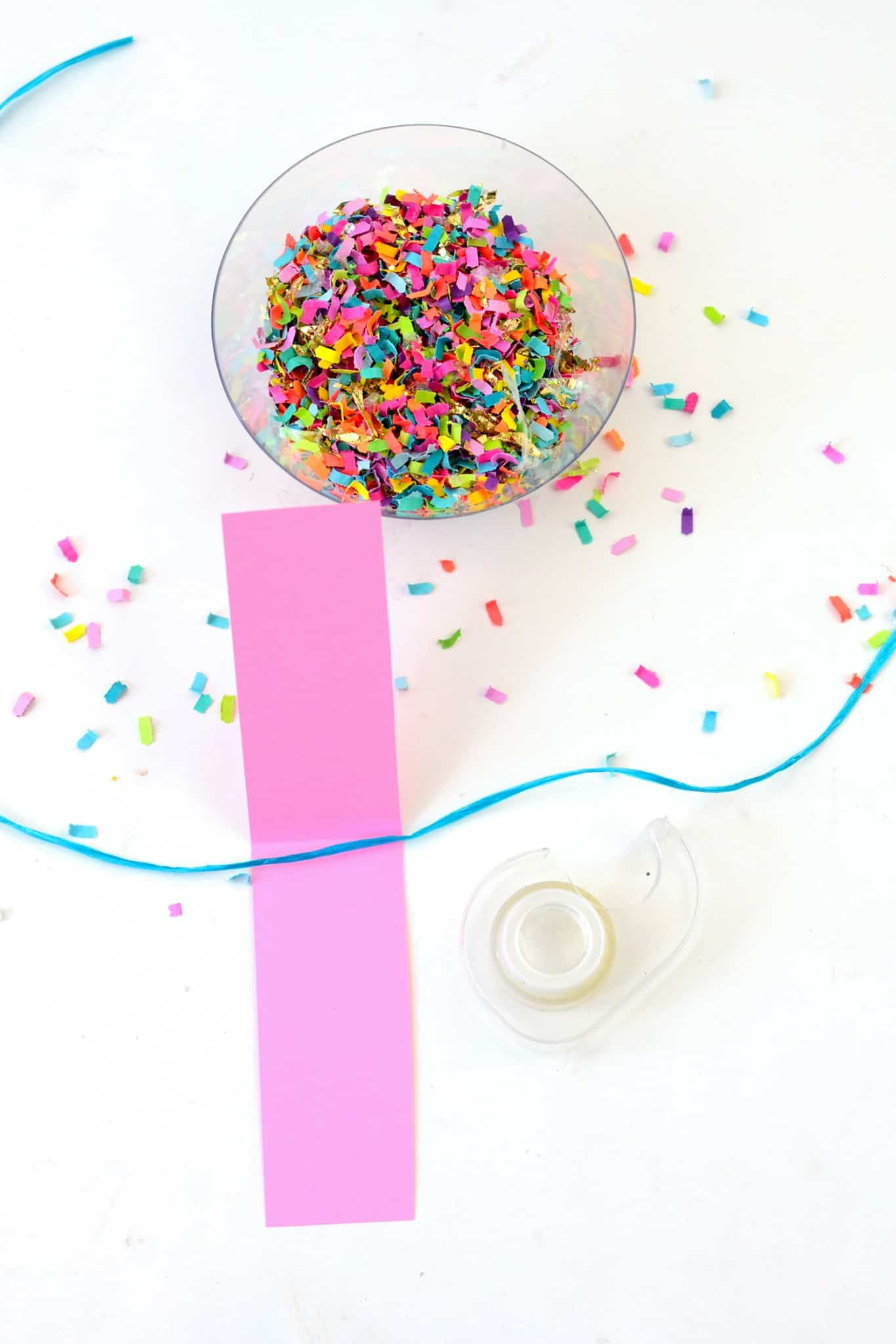 Confetti Dipped DIY Party Banner