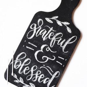 Easy DIY chalk board breadboard