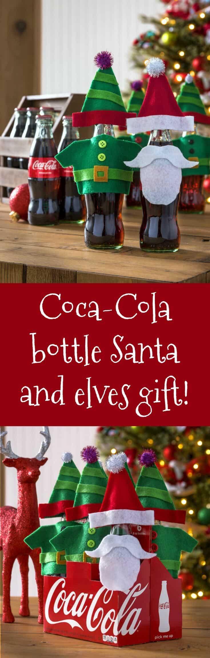 Coca-Cola bottle Santa and elves gift! #ShareACoke - Mod ...
