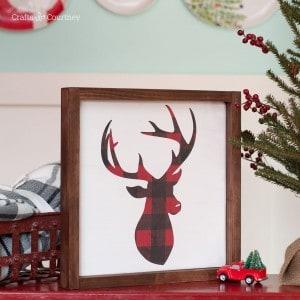 DIY Christmas sign – farmhouse sty...