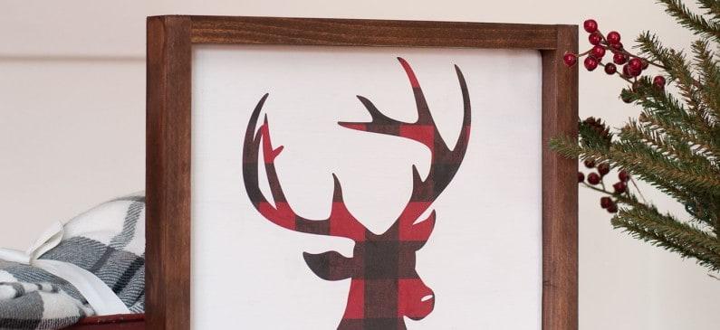 DIY Christmas sign – farmhouse style