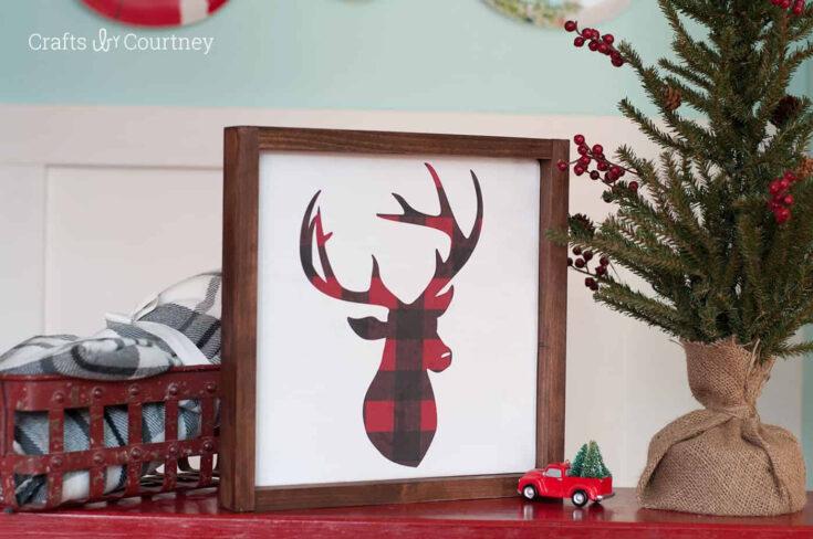 DIY farmhouse Christmas sign
