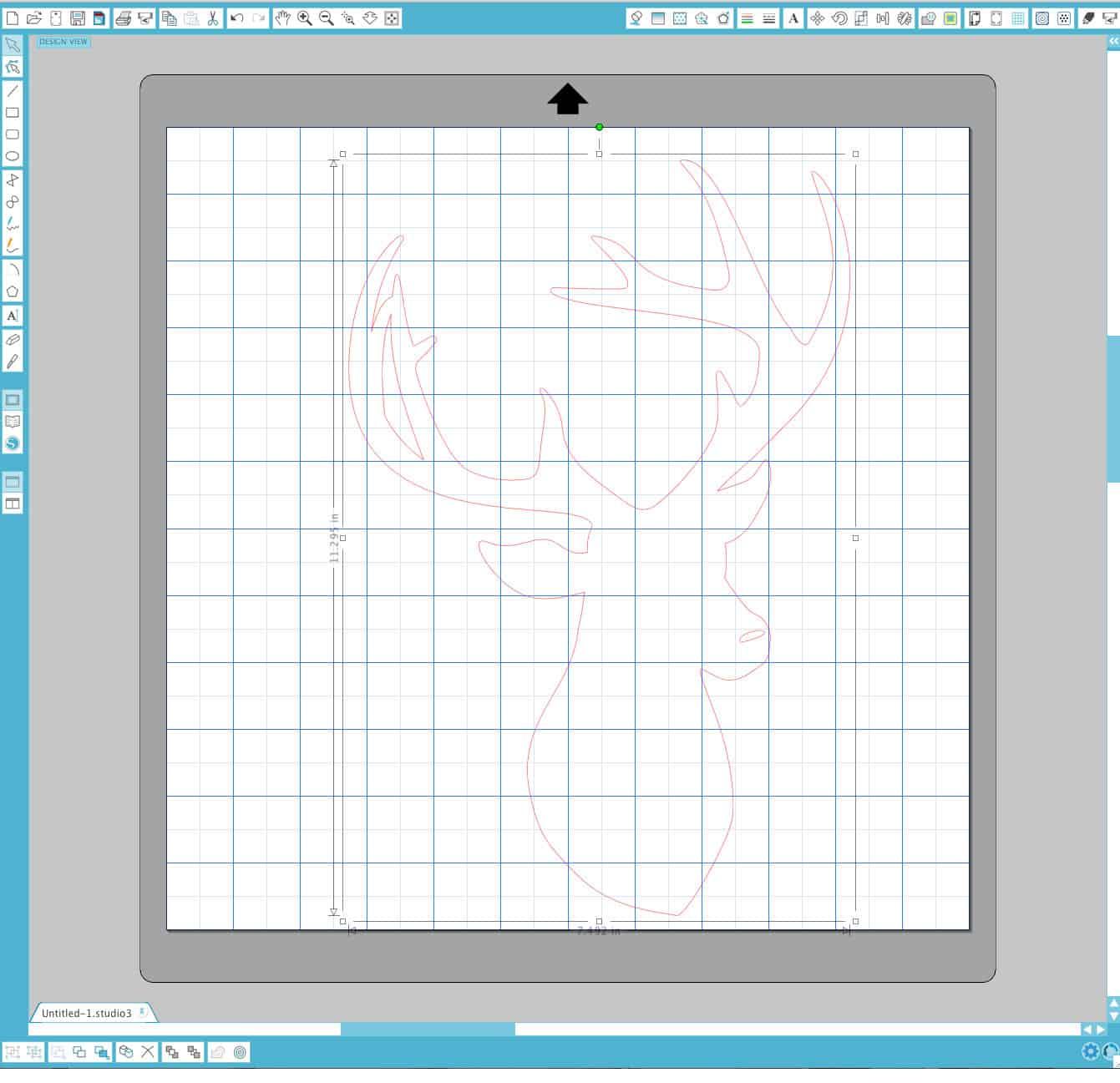 deer head outline in Silhouette Studio