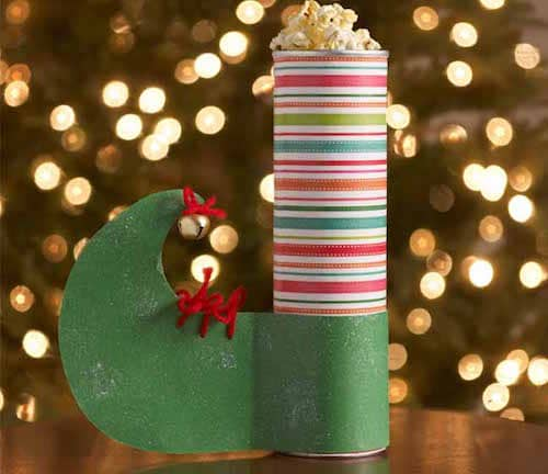 Elf gift container for Christmas