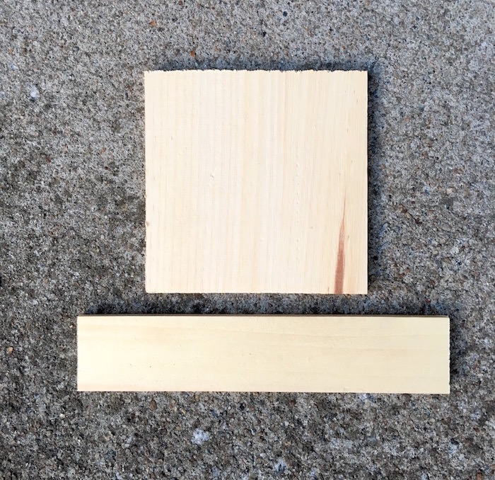 long wood rectangle and pine square