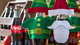 Coca-Cola Bottle Santa and Elves Gift!