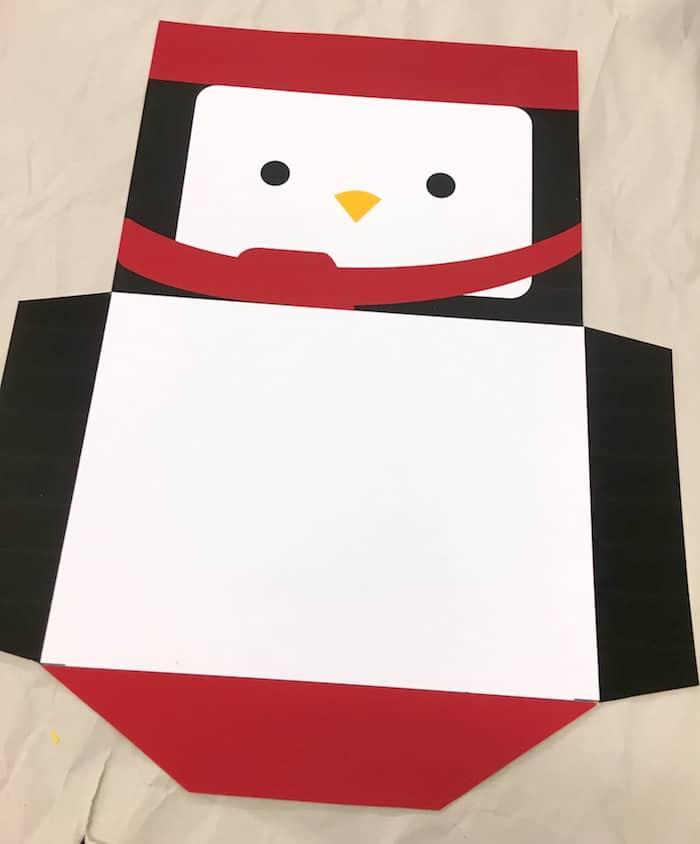 Penguin envelope for Christmas