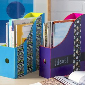 Paint IKEA magazine racks for gifts