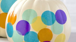 No Carve Pumpkin Ideas: Colorful Confetti