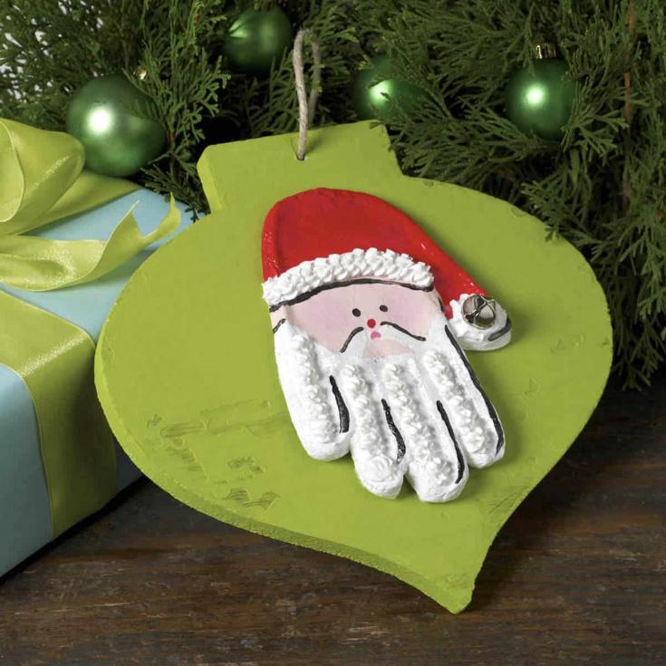 Handprint Crafts - Santa Christmas Ornament