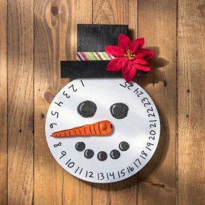 Advent calendar ideas: wood snowman