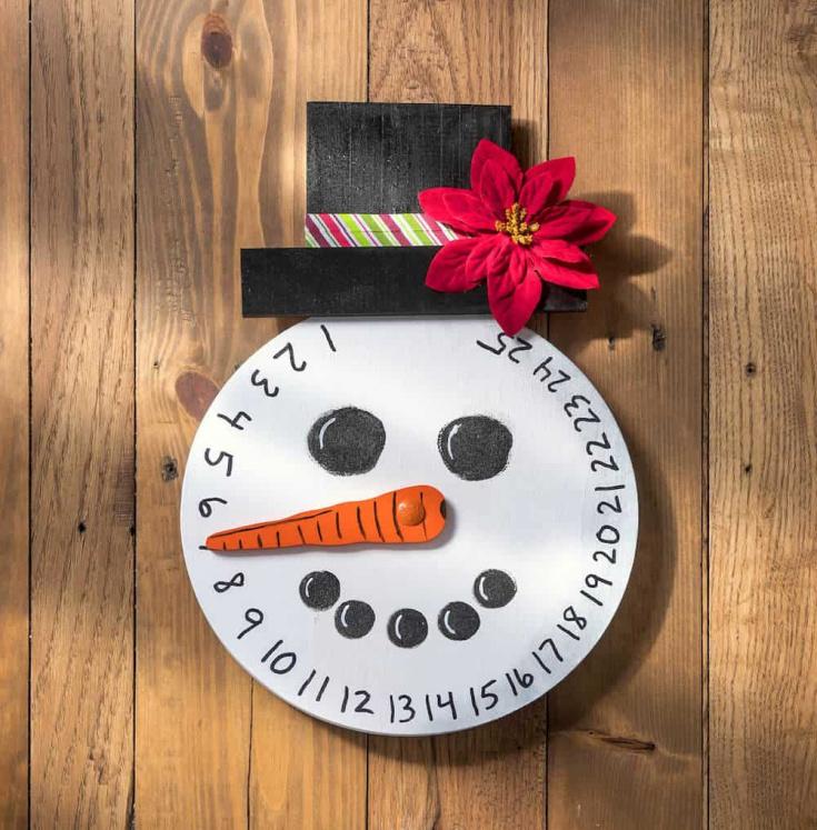 Wood Snowman Advent Calendar